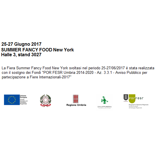 Finanziamento per partecipazione al SUMMER FANCY FOOD 2017