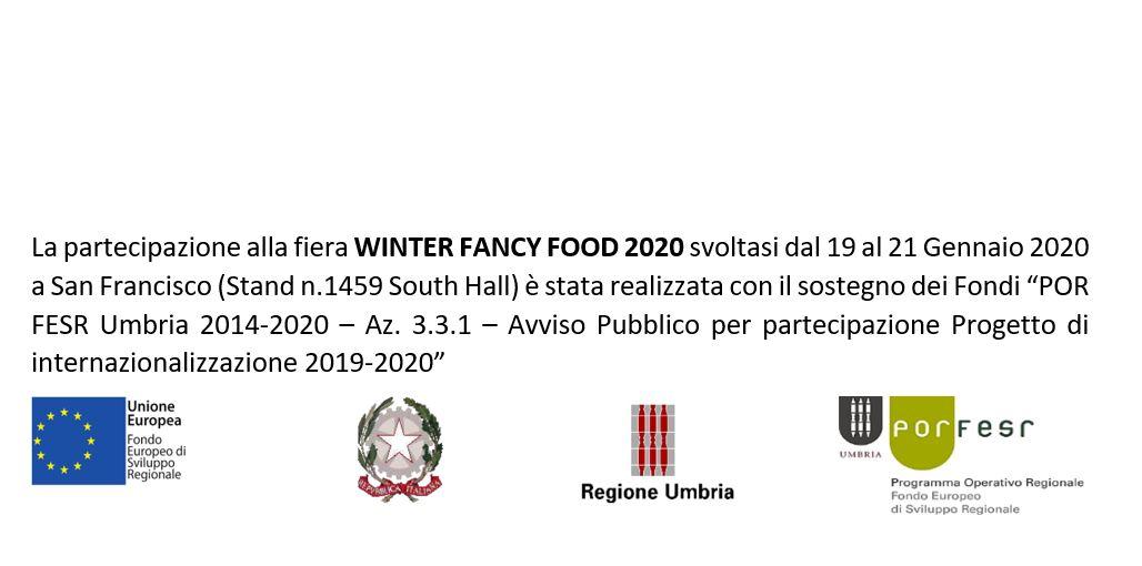 Finanziamento per partecipazione al WINTER FANCY FOOD 2020